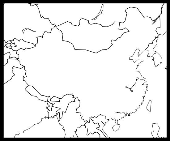 用python画一个中国地图